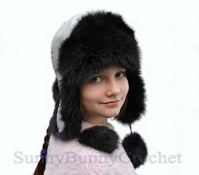 Childrens Unisex Dog Thermal Winter Trapper Hat With Ears HA257