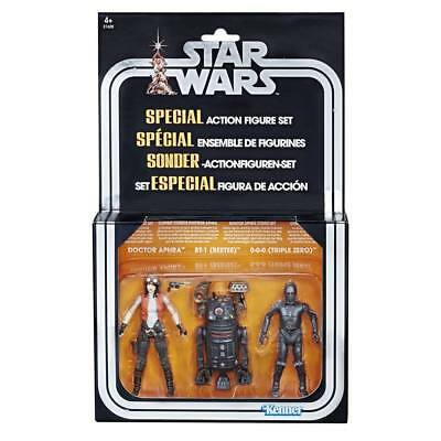 Star Wars Vintage Collection 3 Pack Doctor Aphra, Bt-1 Beetee, 0-0-0 Triple Zero