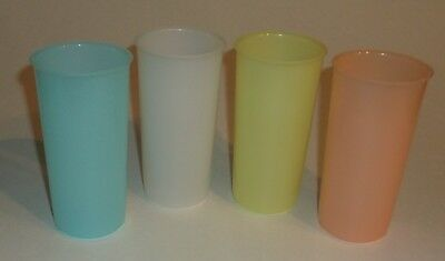 Vintage NOS 1970's Tupperware Child's Pastel Cups Tumblers #117 6 oz.