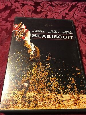 Seabiscuit (2003 DVD) Toby Maguire Jeff Bridges Chris Cooper SHIPS RIGHT NOW!