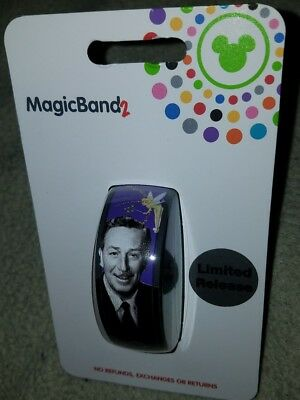 NEW Disney Parks Magic Band 2 Walt Disney Signature Purple Tinkerbell LINKABLE