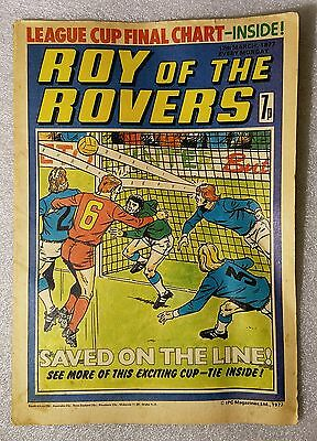 Vintage Comics ✱ ROY OF THE ROVERS ✱ 1977 Football  League Cup Final Chart.