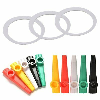 Fashion Kazoo Plastic With 5Pcs Flute Diaphragm Gift for Kids Music Lovers