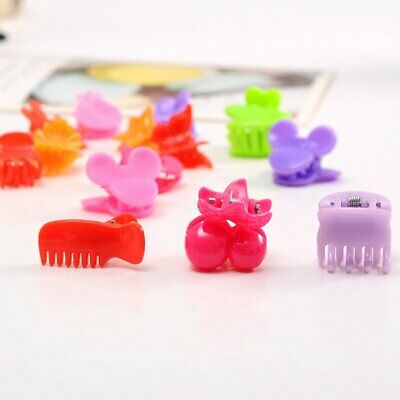 30Pcs Mixed Colors Plastic Hair Clip Baby Girl Kids Clamp Hair Accessories