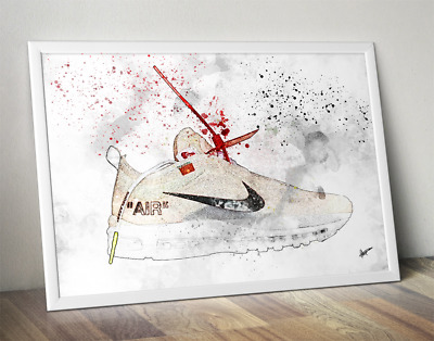 Nike Air Max 97 Off White Nike / Trainer / Sneaker Wall Art Print / Poster