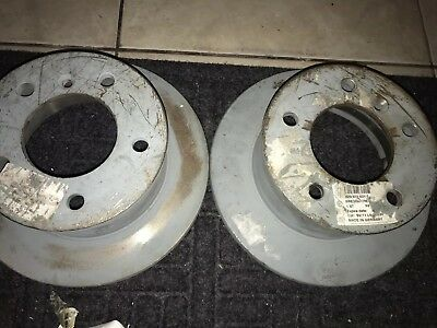 2X REAR BRAKE DISC MERCEDES BENZ G SPRINTER PUCH G-MODELL VW LT Mk II SOLID DISC
