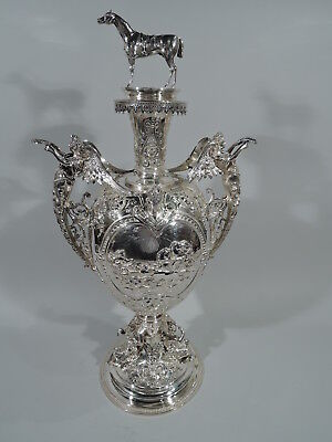 Victorian Trophy - Antique Horse Equestrian Cup - English Sterling Silver - 1883