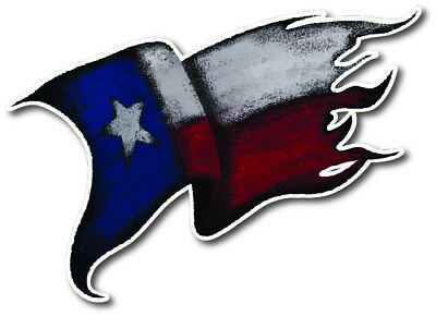 State of Texas Flag Tattered Waving 3M Vinyl Decal Sticker Texan Distressed 3M