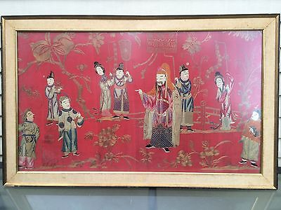 Super Rare  Antique  Chinese Silk Embroidery ( Xian Feng period) fine work