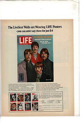 July 1967 Life Cover Posters Beatles Chaplin  Monroe Gable Fdr Ad Print C949