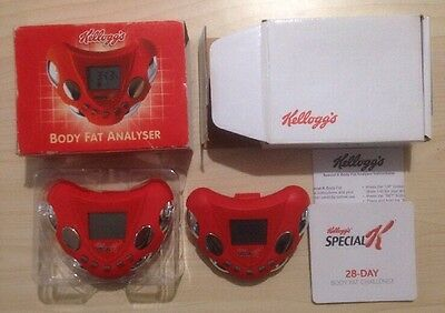2x Kellogg's SPECIAL K BODY FAT ANALYSER/Calorie Counter/Pedometer/Clock & Alarm