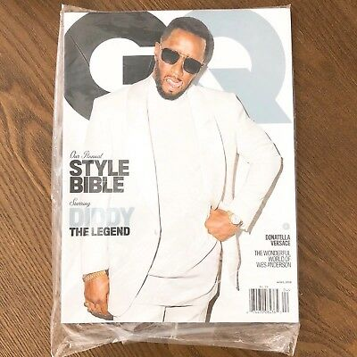 e9d9ed4bb7 NEW SEALED GQ MAGAZINE USA Style Bible P DIDDY APRIL 2018 Back Issue