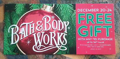 Lot of 10 Bath & Body Works GIFT WITH $10 PURCHASE Coupons - Valid Dec 20-24
