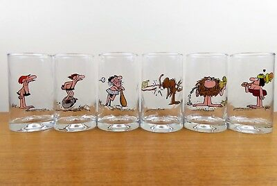 Vintage Arby's BC Ice Age Collector Glasses - COMPLETE SET - 1981 - Johnny Hart