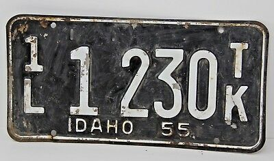 1955 IDAHO License Plate Collectible Antique Vintage 1L 1-230 TK