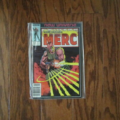 Mark Hazzard: Merc #1 (Marvel New Universe) Very Good