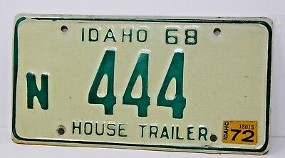 1968 IDAHO License Plate Collectible Antique Vintage Famous Potatoes N 444