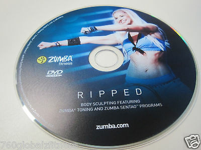 Zumba Ripped Workout DVD from the Exhilarate DVDs set-Have fun while you tone!