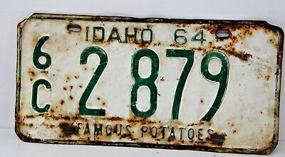 1964 IDAHO License Plate Collectible Antique Vintage 6C 2-879