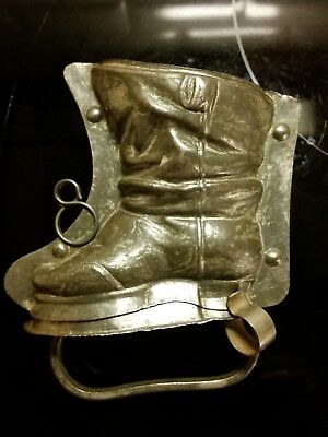 H. Walter 1910 Boot Santa Or Puss In Boots? Shoe 3 Parts Chocolate Mold Antique