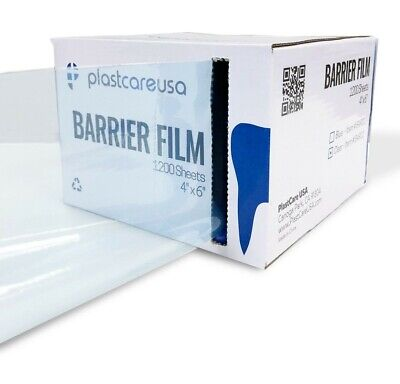 4 x 6 Barrier Film Tape, CHOOSE COLOR - Plastic Sheets Dental Tattoo (4 Boxes)