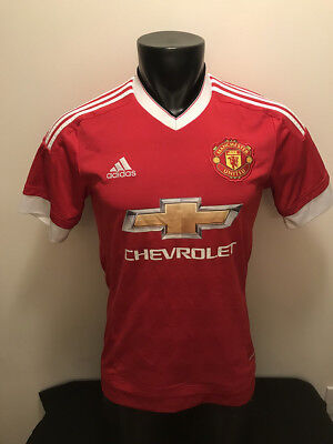 34aa6d8f3 Manchester United Chevrolet Adidas Clima Cool Soccer Jersey Mens size Small