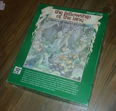 Vintage 1980s  I.C.E. The Fellowship of the Ring Board Game Middle Earth