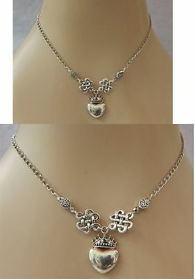 Celtic Claddagh Heart Pendant Necklace Handmade Adjustable NEW Accessories