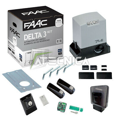 Kit sliding gate FAAC DELTA 3 KIT SAFE 105630445 automation 900kg 230V