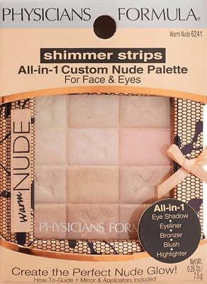 Physicians Formula Shimmer Strips All-in-1 Custom Nude Palette, Warm Nude 6241