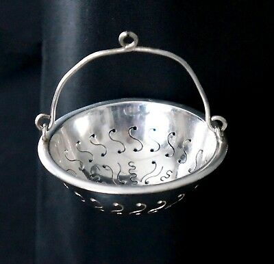 Antique Silver Plated Christofle Tea Strainer, early 1900s, France
