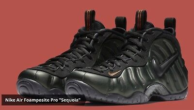 f8b431585a9 Ds Mens Nike Air Foamposite Pro Sequoia Black 624041 304 Bb Sz 8 Free  Shipping