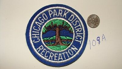 Vintage Chicago Park District Recreation Embroidered Patch Illinois Il