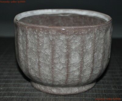 "5""  Ancient China Chinese old porcelain glaze statue Dynasty palace Tea cup Bowl"