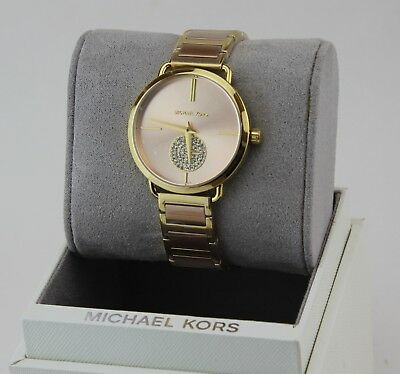 802d12df5e05 New Authentic Michael Kors Portia Crystals Rose Gold Women s Mk3706 Watch