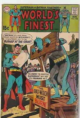 World's Finest  #186 DC SILVER AGE VG