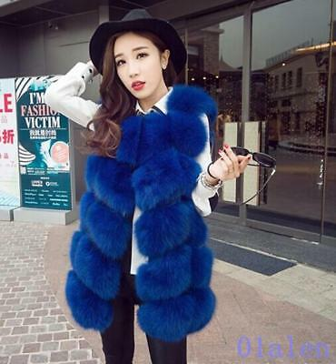 Hot Fashion Womens Faux Fur Coat Vest Waistcoat Winter Warm Sleeveless Outwear