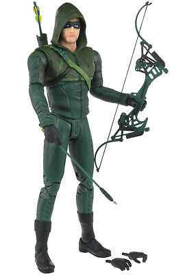 "DC Collectibles Arrow TV Show Series Hooded GREEN ARROW 6.5"" Action Figure 2015"
