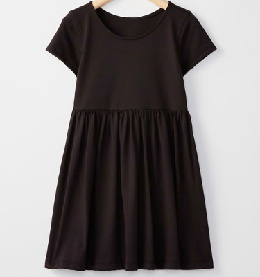 NWT Hanna Andersson Size 110 US 5 black bright kids basic cotton dress play
