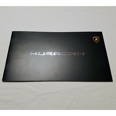 Lamborghini Huracan LP610-4 2014 brochure with fold-out cover, technical info