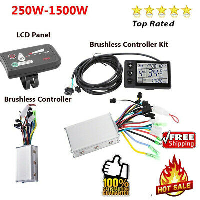 250W-1500W Brushless Speed Controller for Scooter E-bike Electric Bicycle Motor