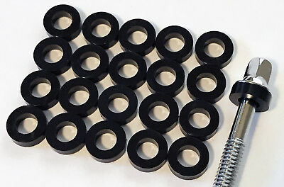 100 NEW Black THICK NYLON DRUM TENSION ROD WASHERS For Tom//Bass//Snare FREE SHIP