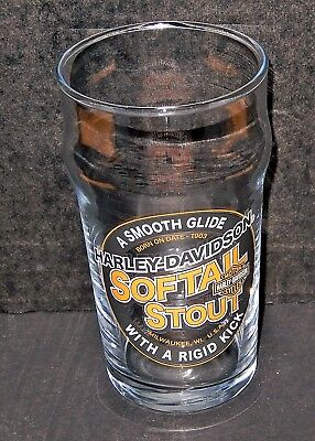 One Harley-Davidson Motorcycles Softail Stout 6 Inch Glass