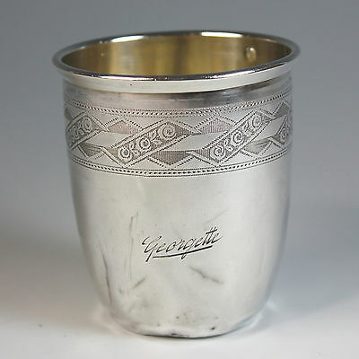 French Sterling Silver Timbale Wine Cup Minerva Mark Prudhomme
