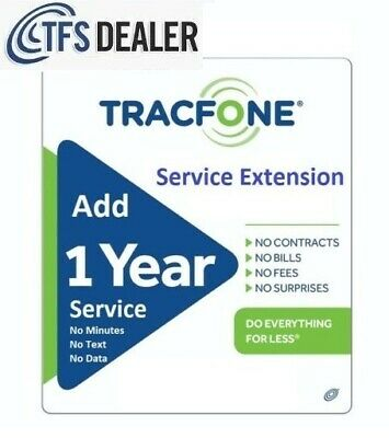 TracFone Service Extension 1 Year / 365 Days -- Support Branded & BYOP 🔥🔥🔥🔥