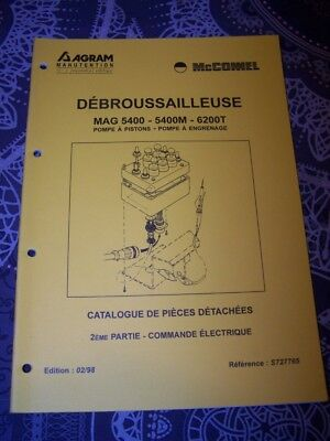 6V Catalogue de pieces detachees AGRAM Debrousailleuse MAG 5400 5400M 6200T
