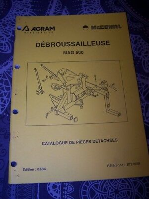 6W Catalogue de pieces detachees AGRAM Debrousailleuse MAG 500