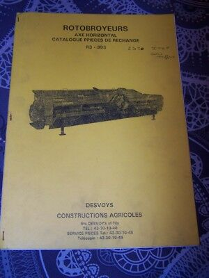 EP catalogue de pieces detachees Rotobroyeur R3 393 DESVOYS Agricoles
