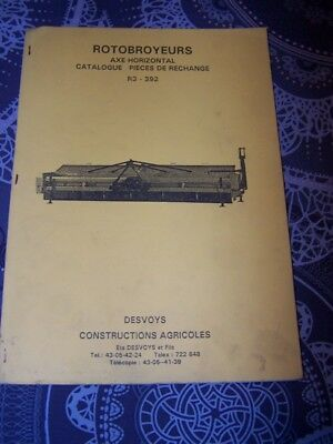 EQ Catalogue de pieces detachees Rotobroyeurs R3 392 Desvoys agricoles