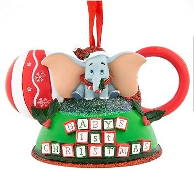 New Disney Parks Baby's First Christmas Dumbo Mickey Ear Hat Ornament
